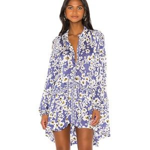 Free People Love❤️Letter Floral Print Tunic/Dress